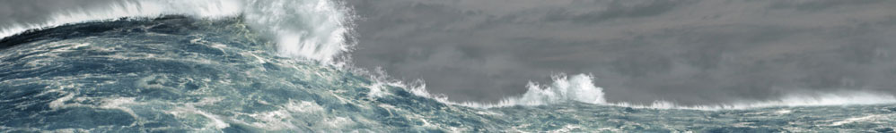 Huge wave in stormy weather